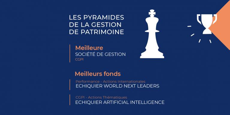 La Financière de l'Echiquier remporte 3 Prix aux Pyramides de la Gestion 2021